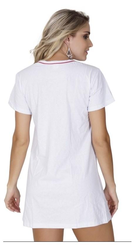 Camisola sem bojo em malha com estampa minnie e manga curta L36.A