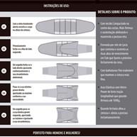 Cinta faixa modeladora unissex regulável em microfibra P21.B
