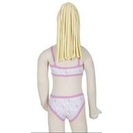 Conjunto infantil sem bojo em algodão estampado e elástico exposto H19.B