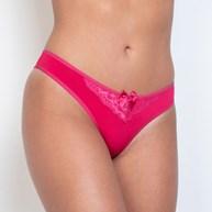 Conjunto lingerie básico em microfibra lisa e renda com lacinho K204