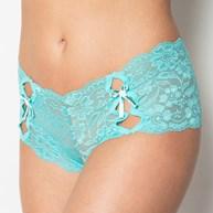 Conjunto lingerie caleçon em renda com lacinhos em cetim K06