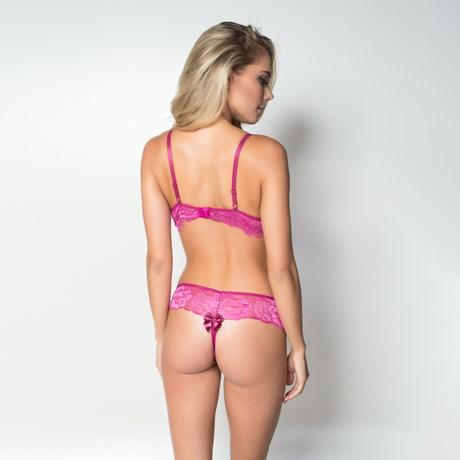 Conjunto lingerie coleção luxo strappy bra em renda com bijuteria K130.C