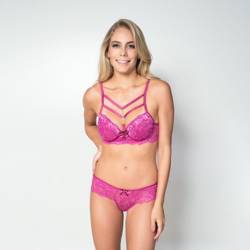 Conjunto lingerie coleção luxo strappy bra em renda com bijuteria ... 74075a74007