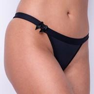 Conjunto lingerie de pala em microfibra lisa com laço em cetim K69.A