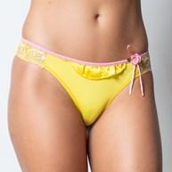 Conjunto lingerie em microfibra com cetim drapeado e tule bordado K141.B