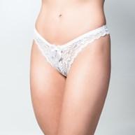 Conjunto lingerie em microfibra com renda e detalhe em bijuteria K142.C