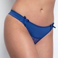 Conjunto lingerie em microfibra e renda com pala lateral franzida K175.B