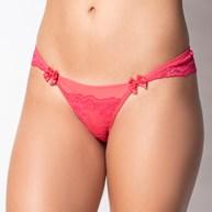 Conjunto lingerie em microfibra lisa com detalhes em renda K227.B ROSA