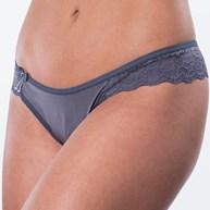 Conjunto lingerie em microfibra lisa com lateral em renda e laço K118.C