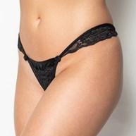Conjunto lingerie em microfibra lisa com renda e cetim drapeado K64.A