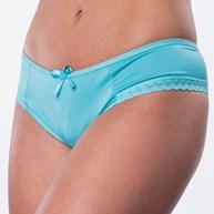 Conjunto lingerie em microfibra lisa e detalhe em renda elástica K153.C