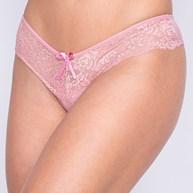 Conjunto lingerie em microfibra lisa e renda com lacinho em cetim K257.A