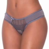 Conjunto lingerie em renda lisa com microfibra e lacinho K201.A