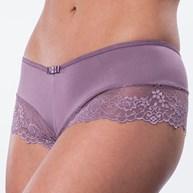 Conjunto lingerie nadador caleçon em microfibra lisa com renda K173.B