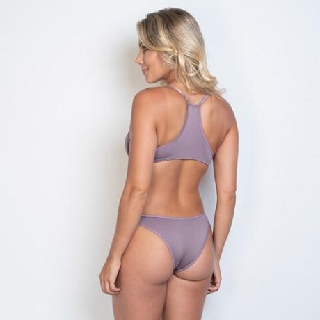 Conjunto lingerie nadador em microfibra com detalhe estampado K215.B