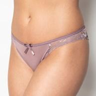 Conjunto lingerie nadador em microfibra lisa com renda e lacinho K08.A