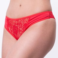 Conjunto lingerie nadador em microfibra lisa e renda K02.B