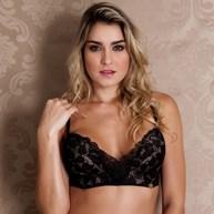 407cae5d8 B  Conjunto lingerie premium decote profundo em renda importada K164.