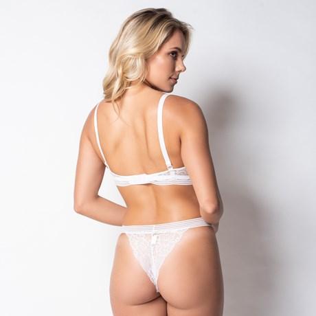 Conjunto lingerie premium em renda importada lisa K54.B