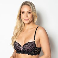 Conjunto lingerie sexy em renda com lacinhos em cetim K182.C
