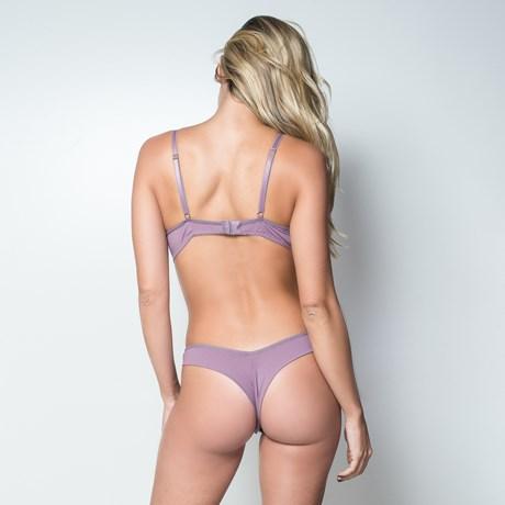 Conjunto lingerie strappy bra fio duplo em microfibra e renda K228.C