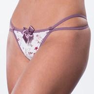 Conjunto lingerie tirinha em microfibra estampada com laço K89.A