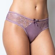 Conjunto lingerie tradicional em microfibra com renda e lacinho K230.A UVA