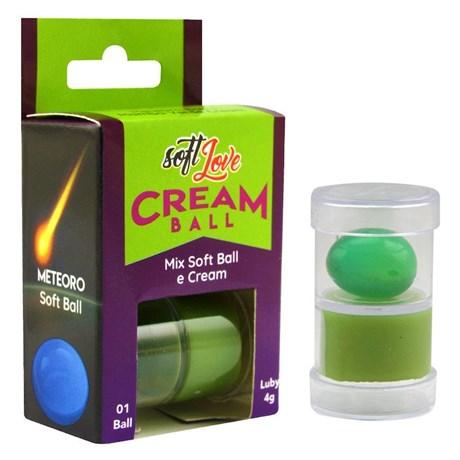 Cream Ball Bolinha + Creme Meteoro Mamba Verde Intensificador de Sensações S65.A