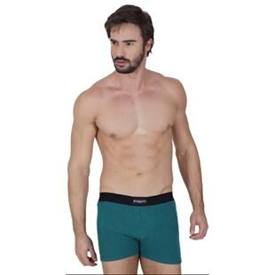 Cueca boxer em fibra de bambu lisa com elástico exposto D84.A