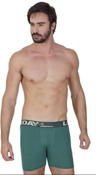 Cueca boxer em microfibra lisa com elástico exposto D66.A