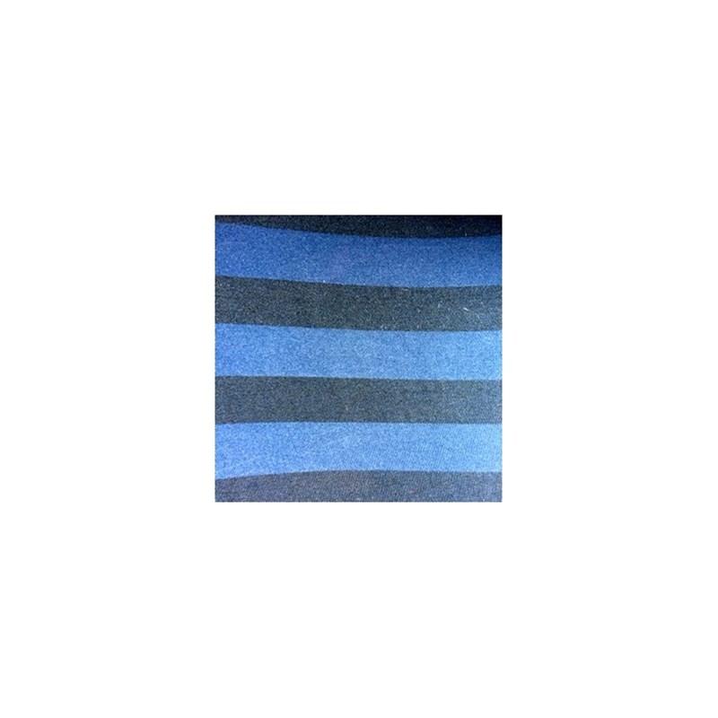 Cueca boxer em microfibra listrada com elástico exposto D89.A AZUL MARINHO