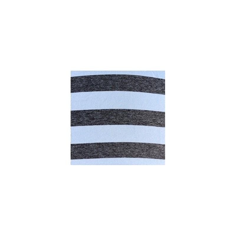 Cueca boxer em microfibra listrada com elástico exposto D89.A AZUL CLARO