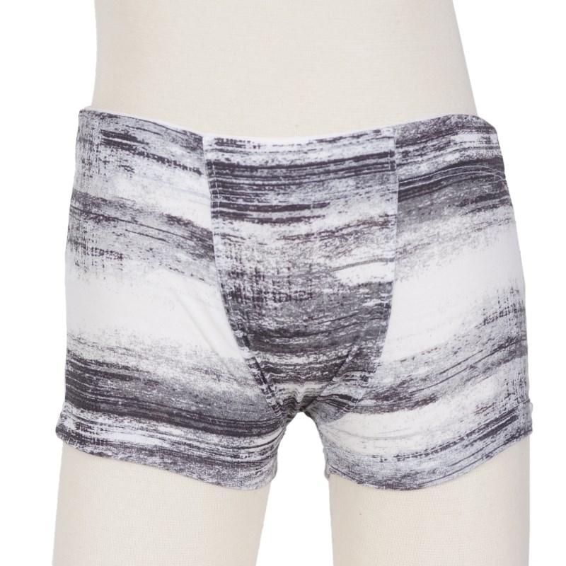 Cueca boxer infantil em cotton estampado com elástico embutido E19 CINZA VARIADO