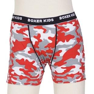Cueca Boxer infantil em liganete estampada e elástico exposto E16