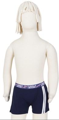 Cueca boxer infantil em malha lisa e elástico exposto E30.A