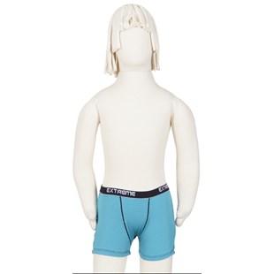 Cueca boxer Infantil em microfibra listrada e elástico exposto E05