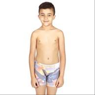 Cueca boxer infantil em microfibra sublimada e elástico exposto E24