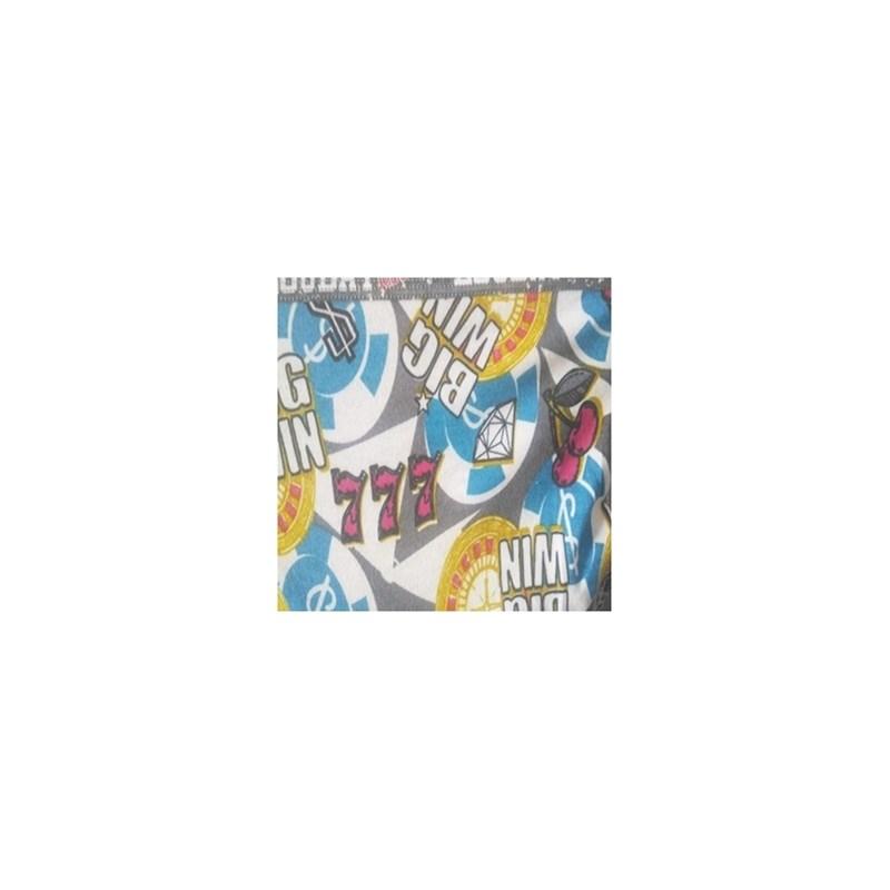 Cueca boxer infantil em viscolycra com elástico exposto E14 GRAFITE VARIADO