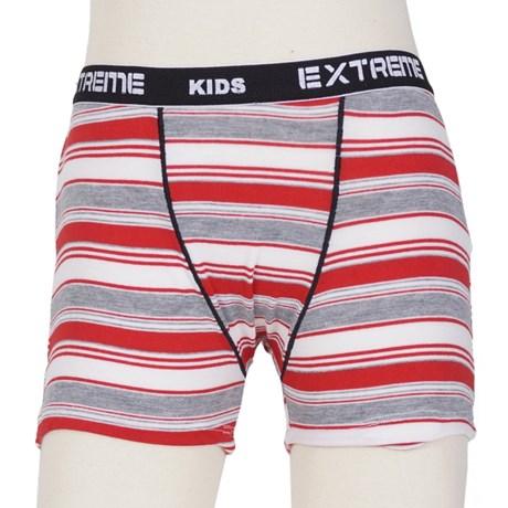 Cueca boxer Infantil em viscolycra listrada com elástico exposto E06