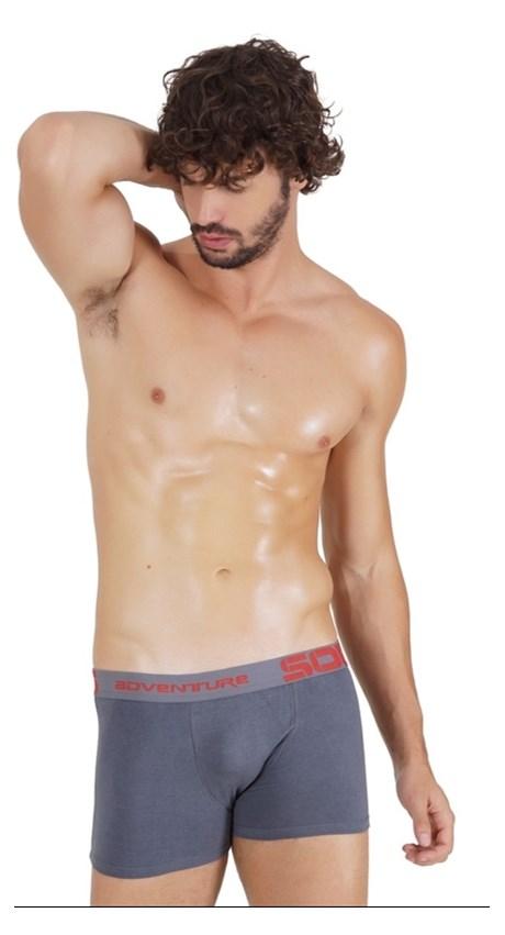 Cueca Boxer masculina em Algodão liso com elástico exposto D87