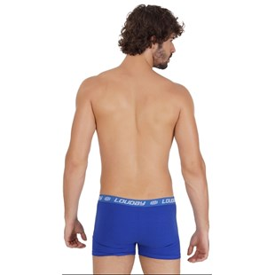 Cueca boxer masculina em cotton liso com elástico exposto D16