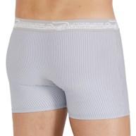 Cueca Boxer Masculina em Cotton Penteado Risca de Giz com Elástico Exposto D34