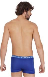 Cueca boxer masculina em helanca lisa com elástico exposto D58.A