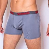 Cueca boxer masculina em helanca lisa super macia com elástico exposto D17.A