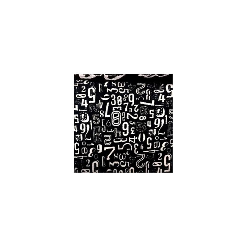 Cueca boxer em microfibra estampada com elástico exposto D30 PRETO VARIADO