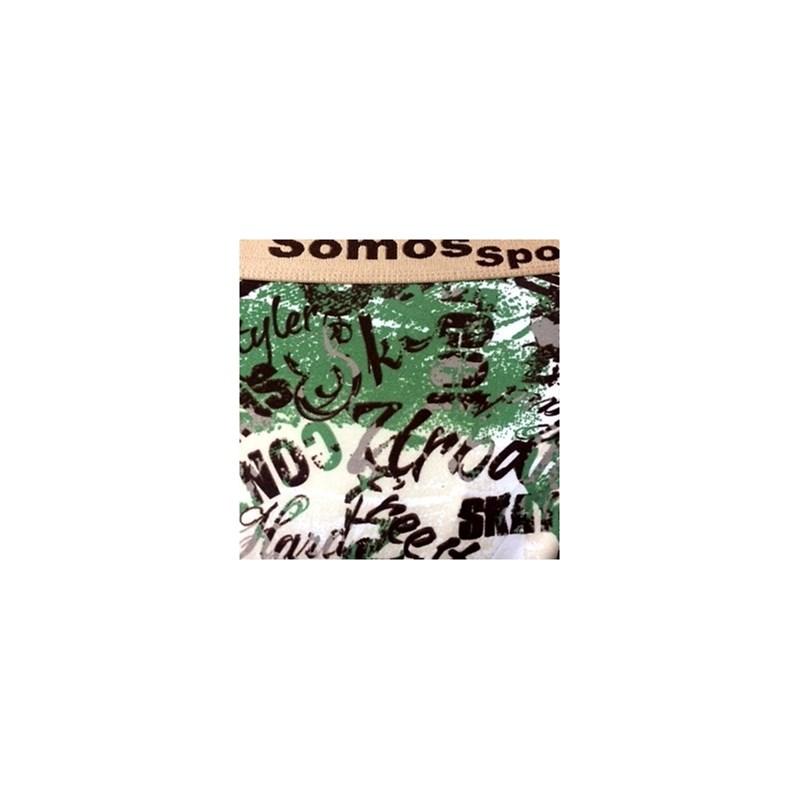 Cueca boxer em microfibra estampada com elástico exposto D30 CHOCOLATE VARIADO