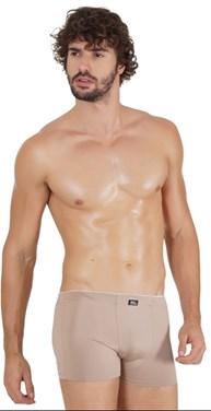 Cueca boxer masculina em microfibra lisa com elástico embutido D01