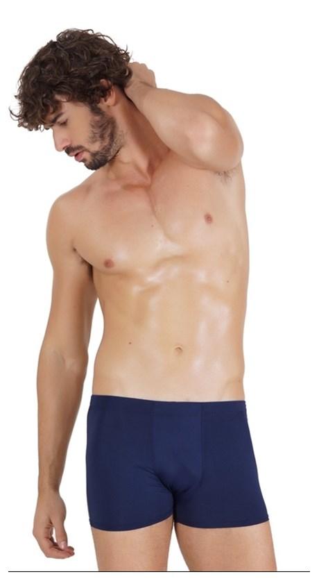 Cueca boxer masculina em microfibra lisa com elástico embutido D13.A