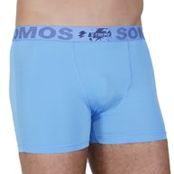 Cueca Boxer masculina em Microfibra lisa e Elástico Exposto D25