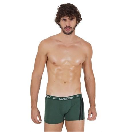 Cueca boxer masculina em viscolycra com elástico exposto D64.A